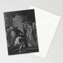 Peter Paul Rubens - Tomyris lässt das Haupt des Cyrus in Blut tauchen (nach dem Stich von Paulus Pon Stationery Cards
