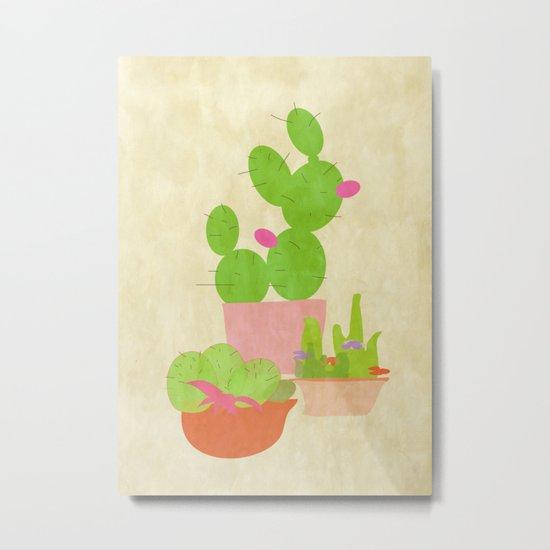 Cacti Mix Metal Print