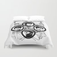 british flag Duvet Covers featuring British Invasion by V-GRAFIX