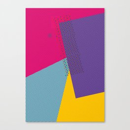 Colorblock - geometric minimal Canvas Print