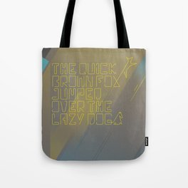 The Quick Brown Fox Tote Bag