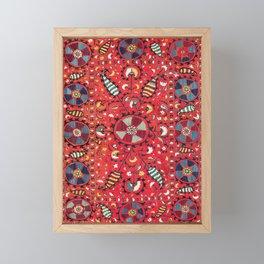 Lakai Suzani Samarkand Uzbekistan Embroidery Print Framed Mini Art Print