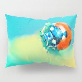 Ladybug in Aqua Mood Pillow Sham