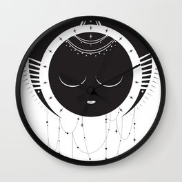 MoonSun Goddess Wall Clock