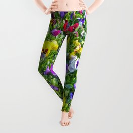 More Pansies Leggings