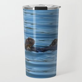 Sea Otter Photography Print Travel Mug