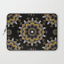 Mandala Golden Spirit Spiritual Zen Bohemian Hippie Yoga Mantra Meditation Laptop Sleeve