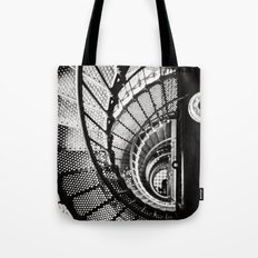 Spiral staircase black and white Tote Bag