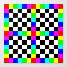 Prism Enters the Chessboard Remix Canvas Print