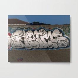 #Graffiti - ETERMB - Ocean Beach Metal Print