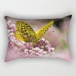 Orange Butterfly Rectangular Pillow
