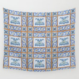 Vintage Art Nouveau Tiles Wall Tapestry