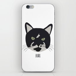 Family Cat Portraits, Buri iPhone Skin