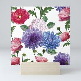 Realistic Flower Botanical Samples Mini Art Print