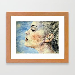 Swedish Girl Profile Framed Art Print