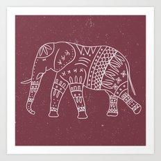 Yoga Elephant 2 Art Print