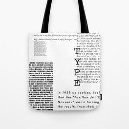 Type - Le Corbusier, Pavilion L'Esprit Nouveau Tote Bag