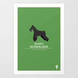 Giant Schnauzer Art Print