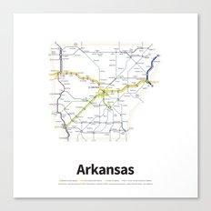 Highways of the USA – Arkansas Canvas Print