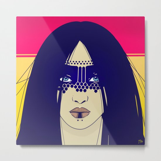 Tribal Lady Metal Print