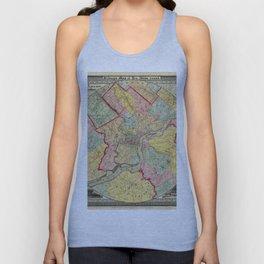 Map of Philadelphia 1849 Unisex Tank Top