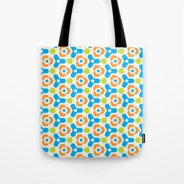 Retro Geometric Kaleidoscopic Seamless Pattern Tote Bag