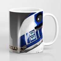 r2d2 Mugs featuring R2D2 by KL Design Solutions
