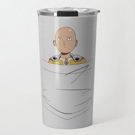 Caped Baldy Pocket Tee Travel Mug