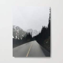 Moraine Lake Road Metal Print