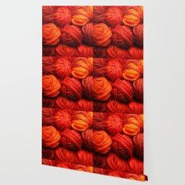 Many Balls of Wool in Shades of Red #society6 #decor #buyart Wallpaper
