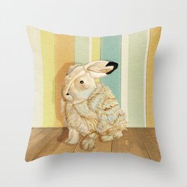 Arctic Hare In The Playroom Throw Pillow