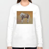 pony Long Sleeve T-shirts featuring Gypsy Pony by Michael Creese
