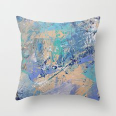 Clash of Tides (2 of 3) Throw Pillow