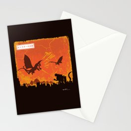Kaiju War Stationery Cards