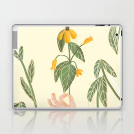Flower in a hand Laptop & iPad Skin