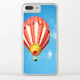 Hot Air Balloon Clear iPhone Case
