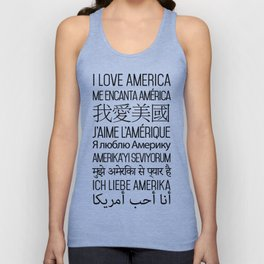 I Love America - Single Color - T-Shirt Unisex Tank Top