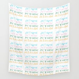 je t'aime 3-I love you,love,girl,romantic,romantism, women,heart,sweet,French,France. Wall Tapestry