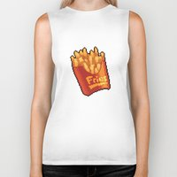 french fries Biker Tanks featuring Pixel Fries by TheSkywaker