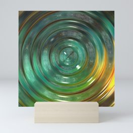 Metallic Green Swirl Mini Art Print