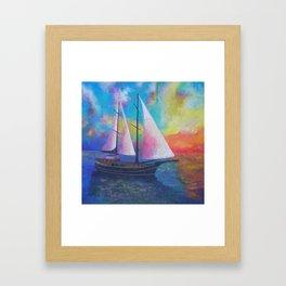 Bodrum Turquoise Coast Gulet Cruise Framed Art Print