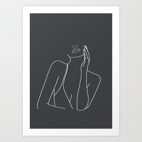 Minimal Line Art of a Woman by nadja1