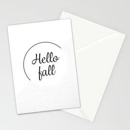 Hello fall | minimilist grid Stationery Cards