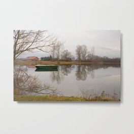 Cerknica lake in the morning Metal Print