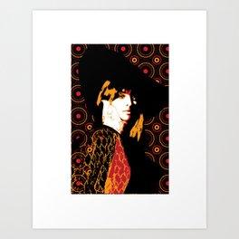 Julie Christie Redux Black Art Print