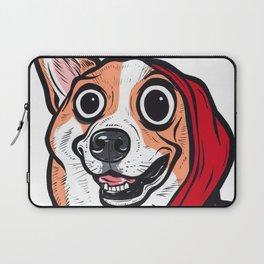 Corgi Red Hoodie Laptop Sleeve