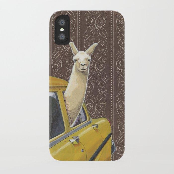 Taxi Llama iPhone Case