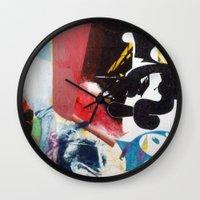 nirvana Wall Clocks featuring NIRVANA/FELIX by Brandon Neher