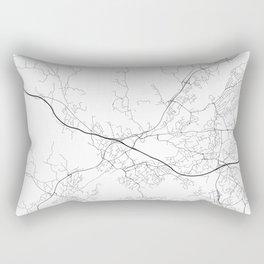 Minimal City Maps - Map Of Espoo, Finland. Rectangular Pillow