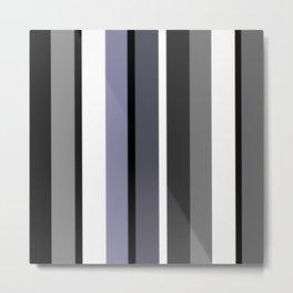 Grey stripes pattern Metal Print